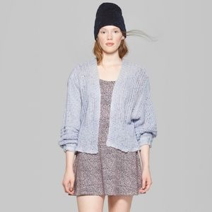 Wild Fable crop cardigan with billow sleeves